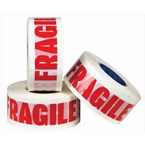 12 Rolls Fragile Tape Cheap Medium Quality Fragile Printed Tapes