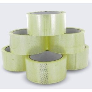 6 Rolls Clear White Tape Cheap Medium Quality Box Sealing Tapes