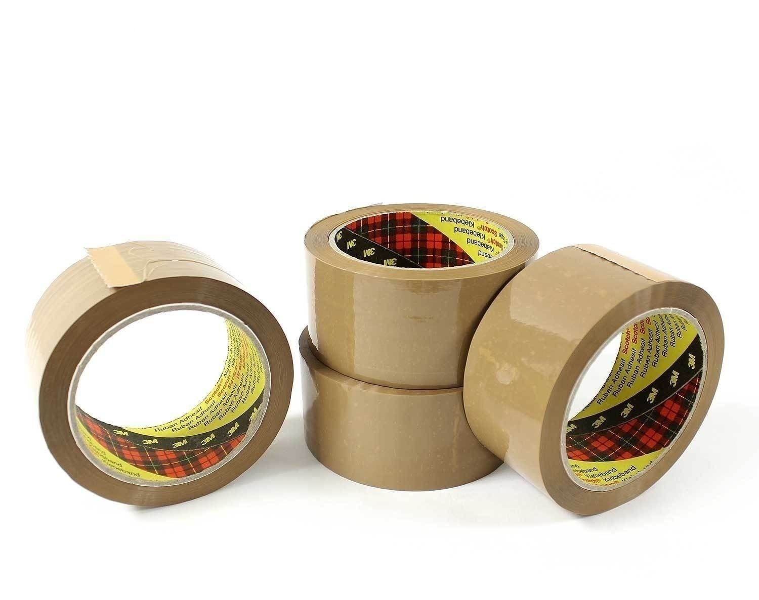 ROLLS OF CLEAR BUFF PARCEL PACKING OF 48mm x 66M STRONG PACKING ADHESIVE TAPE